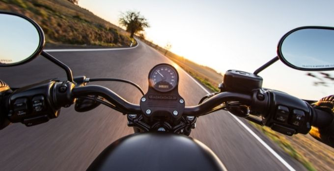 controlling motorcycle